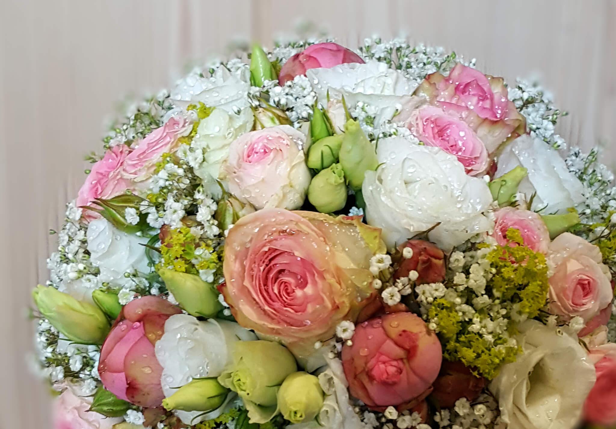 Brautstrauß englische Rosen